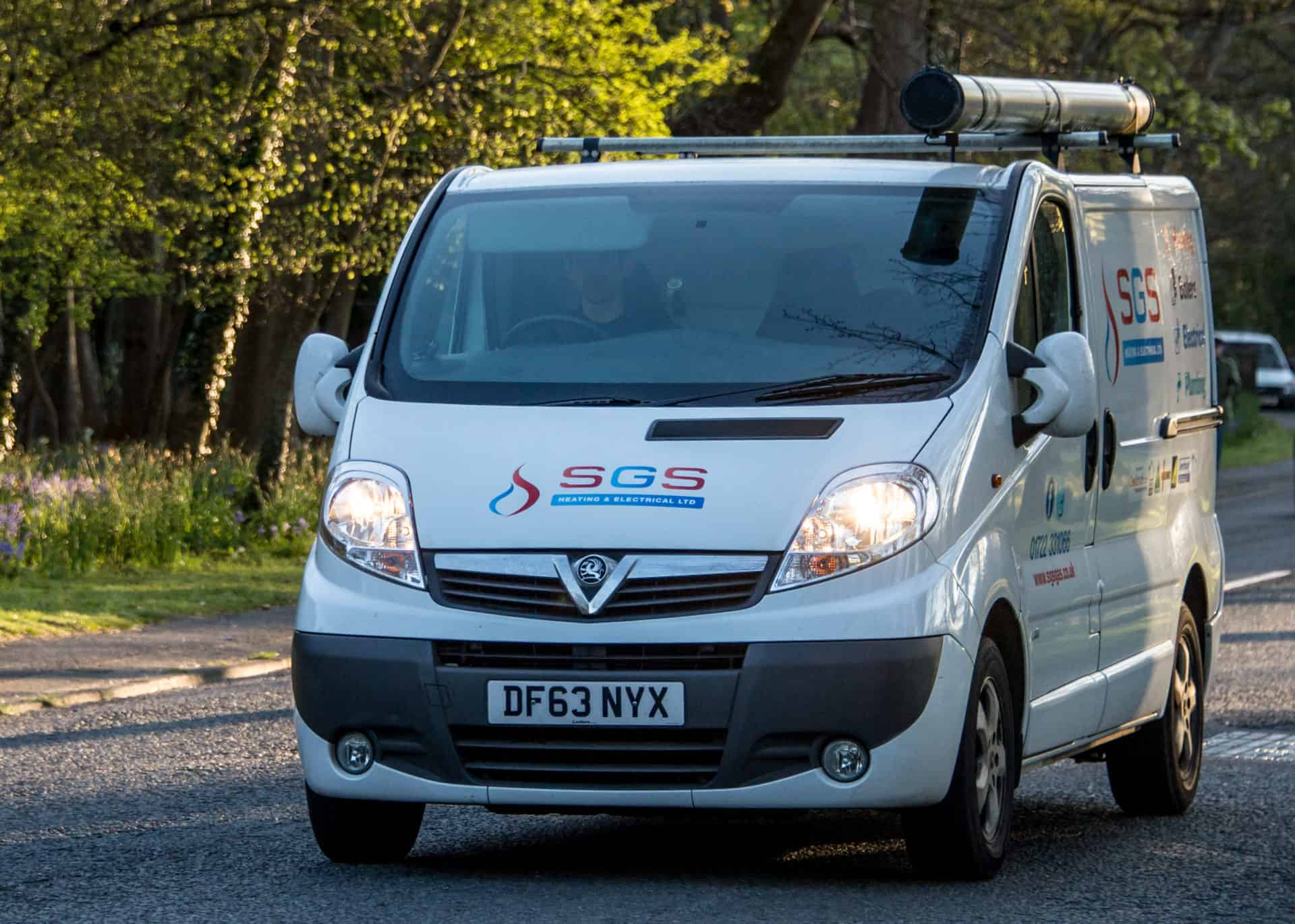 logo branding on van for sgs
