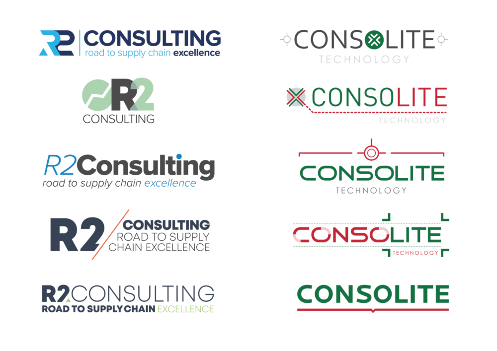 logo design consolite and r2 consulting concepts