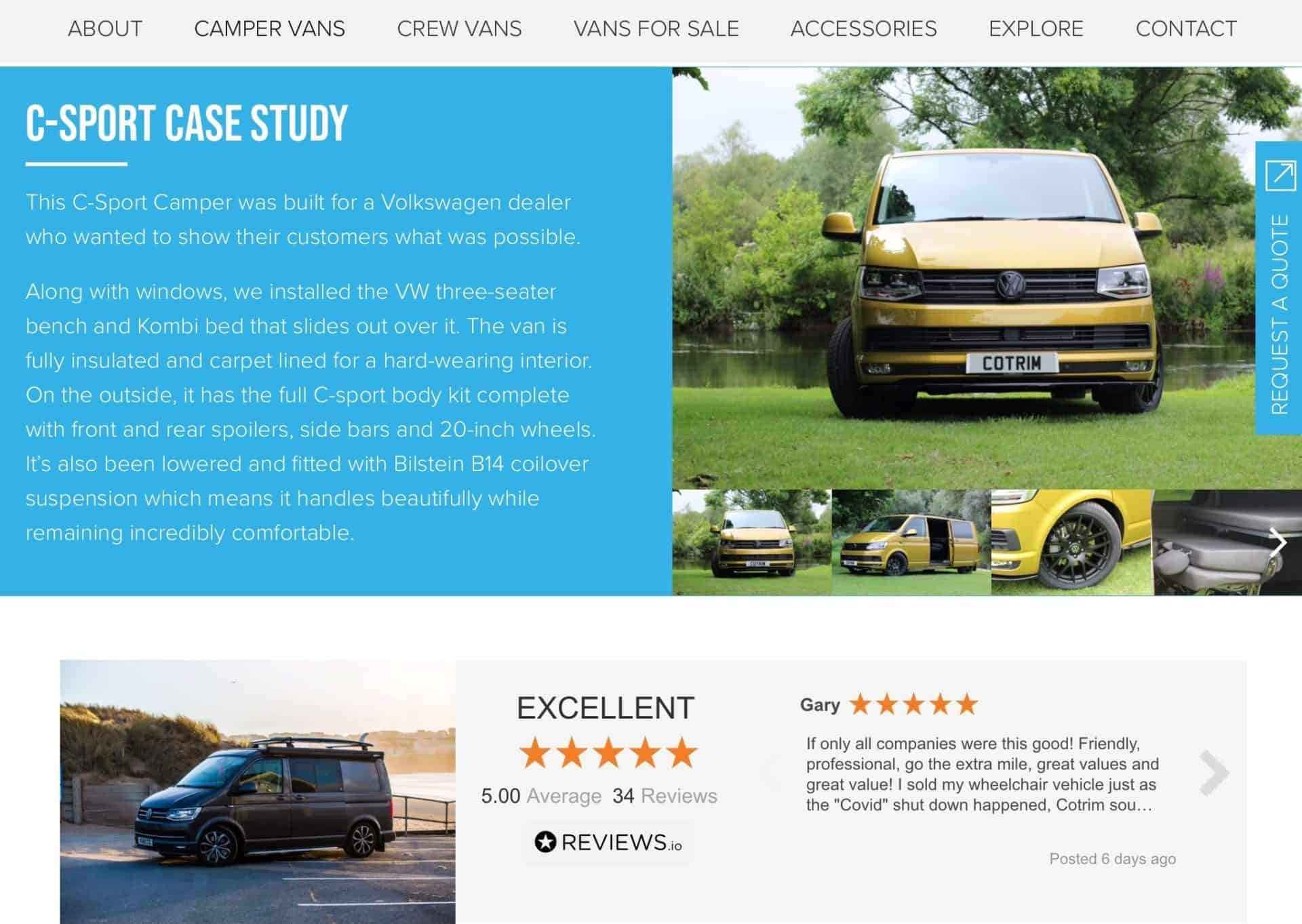 web design c-sport flexivan 3