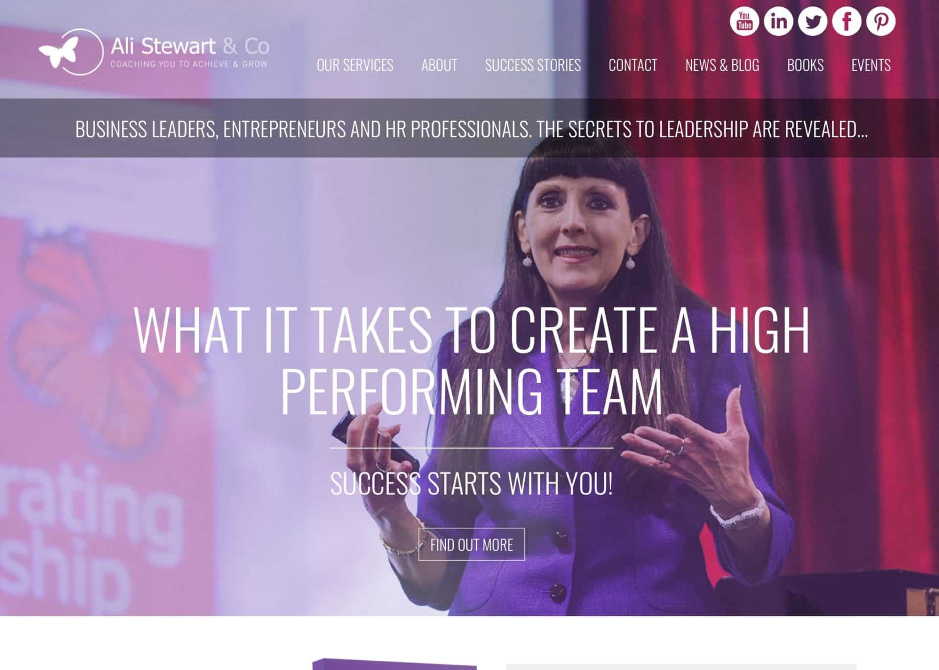 wordpress web design ali stewart home 1b